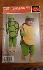 SIMPLICITY KIDS TURTLE COSTUME PATTERN S0976 SIZE 1/2-4  UNCUT FREE SHIPPING