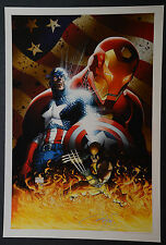 Captain America Wolverine Ironman Michael Turner Aspen Art Print