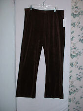 New Style & Co Women Casual Long Pant Sz 2XL Chocolate