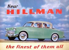 1957 1958 Rootes Hillman Minx Jubilee Brochure, Original 57 58