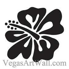 HIBISCUS FLOWERS FLORAL Wall / Car Decal Sticker, Highest Quality, Made in USA