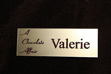 EMPLOYEE PERSONALIZED  NAME TAG BADGE SILVER BLACK CUSTOM ENGRAVED