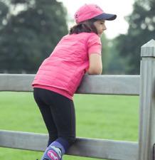 Horze Kids Spirit Knee Patch Breeches - Black - S