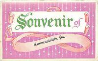 CONNEAUTVILLE PENNSYLVANIA SOUVENIR POSTCARD c1912