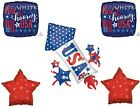 4th Of July Rocket Fireworks Party Balloons Decoration Patriotic USA