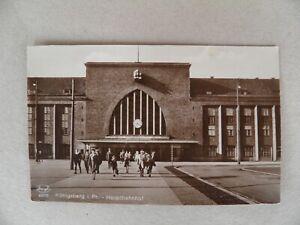 Alte Foto AK Königsberg i. Pr. Hauptbahnhof Bahnhof
