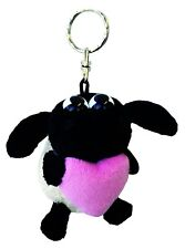 """Stuffed toy Shaun the Sheep """" Timmy with Heart Key Ring 4in. / 10cm """" NICI Japan"""