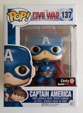 Funko Pop! Civil War #137Captain America (Action Pose) GameStop Exclusive