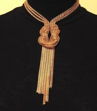Gold Knot Chain Collar Statement Necklace