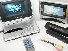 "Durabrand PVS 1966 Dual 6.25"" Monitor / 2 Screens Portable / Car DVD / CD Player"