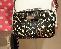 NWT Victorias Secret logo Leapord Crossbody Purse handbag w/black & tassel