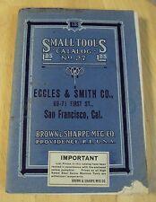 "RARE 1916 #27 Small TOOL Catalog~""BROWN & SHARPE MFG CO""~Machinist~RI~"