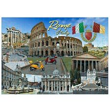 Rome Italy Landmarks and Icons Collage Jigsaw Puzzle 500 pcs