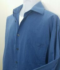 "Calvin Klein Men's Blue striped long sleeve dress shirt. 36/37 & 17"" neck"