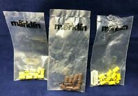 Lot of 30 Vintage Marklin Old Style Sockets Plugs Yellow Brown HO Scale Railroad