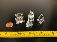 Swarovski Crystal Miniature Collectible Figurines w/color accents - Lot of 4