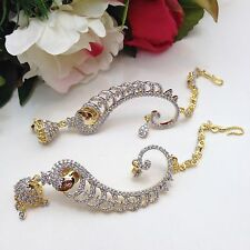 """Party Wear American Diamond (High Quality) Earrings length (3""""inches)"""