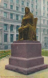 NEW YORK CITY – De Peyster Statue Bowling Green