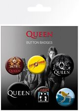 Queen Mix Freddy Mercury Music 6 Pin Assorted Badges Trendy Badge Pack