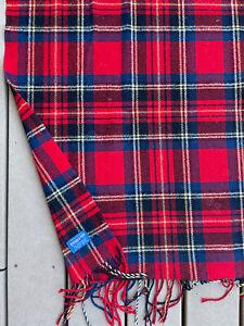 Pendleton Vintage Wool Red Plaid Early Throw, Stadium Blanket USA