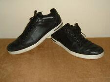DOLCE GABBANA Negro Cuero Y Gamuza & Tenis Zapatos Tenis Talla 9/10