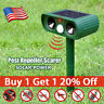 US Animal Repeller Ultrasonic Solar Power Outdoor Pest Cat Mice Deer Sensor