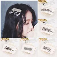 Hair Accessories Letters Hair Pin Rhinestone Head wear Crystal Barrettes