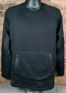 Burton Ak Piston Crew Black Polartec Fleece Sweatshirt Mens Medium