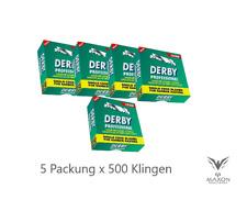 500 DERBY Platinum Rasierklingen für Rasiermesser razor blade Razur Klingen