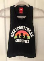 NWT Women's Nike Sportswear Since 1912  Crop Black Tank Top Size S