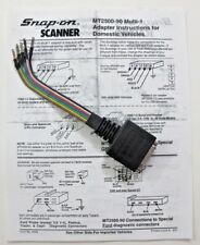 Snap On Scanner MT2500 Solus Ethos Modis Verus Multi-1 Adapter & Instr MT2500-90