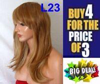 Brown Red Black Blonde WIG Long Curl Wavy Wig Cosplay Full Wig Ladies Wig
