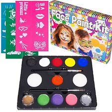 Kit Para Pintacaritas Maquillaje Infantil - Pinta Caras Cumpleaños Plantillas