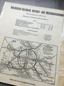 1944 original Reichsbahn Kursbuch Teil 1 Berlin Ostpreußen Schlesien Sudetenland