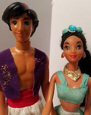 Disney Princess Jasmine and Aladdin Dolls With Accessories 1992 Timeless Toys