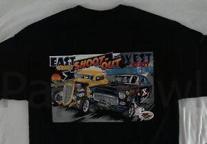 Hot Rod Lions Drag Racing T-Shirt East Coast West Coast Chevy Verses Ford