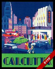 VINTAGE CALCUTTA INDIA NIGHT LIFE VACATION TRAVEL AD POSTER ART CANVAS PRINT