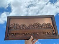 VINTAGE Jesus & LAST SUPPER LEONARDO DA VINCI COPPERCRAFT COPPER WALL ART ❤️m9