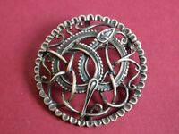 Absolutely Stunning Sterling Silver Mythical Snake Brooch. full hallmarks CME