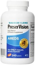 Bausch+Lomb PreserVision AREDS Eye Vitamin & Mineral Supplement 240ct Each
