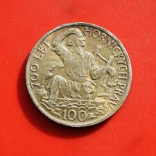 Tschechien-Czeskoslovenska: 100 Korun 1949 Silber, KM# 29, VZ+-XF+, #F 0291