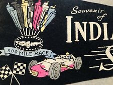 INDIANAPOLIS 500 SPEEDWAY RACING PENNANT, OLD ONE  50's Near Mint!