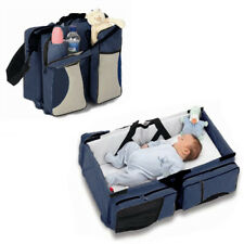 Baby Carry Cot Changing Bag Travel bag Changing Station 3 in 1 Travel Cot Navy