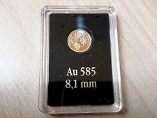 Goldmünze - Goldenes Österreich - Edelweis - 585er Gold! Spiegelglanz; 0,28g