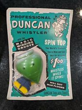 RARE! VINTAGE (1965) Duncan Whistler Spin Top Yoyo (LIME GREEN)