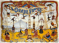 The Okabe Family Japanese Circus 1898 Performing Arts 11x8 Inch Poster Reprint