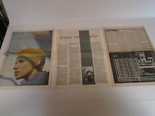 EURYTHMICS (ANNIE LENNOX) - PICTURES, POSTER,ARTICLES, CLIPPINGS - 1983 - 1986