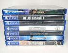 Playstation 4 Games Lot Of 7 - PS4 The last of us 2 Medievil Skyrim Jedi Fallen