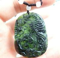 100% Chinese jade hand-carved the statue of tiger PENDANT B