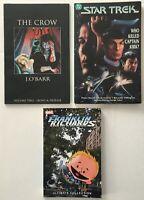 The Crow vol. 2, Star Trek, Franklin Richards TPB Graphic Novel Lot of 3